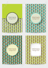 Banner Patterns Best Set Of Brochures In Vintage Style Retro Patterns For Placards
