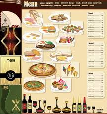 Menu Design Elements Vector Set Graphic Design