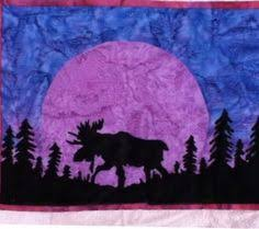 Quilt Patterns with North woods flair, Quilts with bears and moose ... & Name: 'Quilting : moose silhouette Adamdwight.com