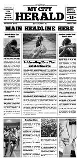 Newspaper Template App Free Newspaper Templates Print And Digital Makemynewspaper Com