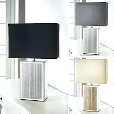 mirrored lamp base grey table lamp stylish square glitter mirrored base table lamp modern black grey