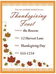 Thanksgiving Invitations Print a customizable Thanksgiving invite from HGTV HGTV 1