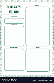 Daily Planner Sheets Daily Planner Template Ready For Print With Space