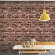 grandeco vintage house brick pattern wallpaper faux effect textured a28901
