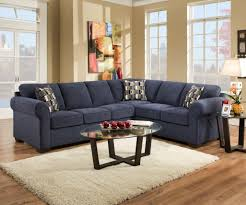 Leather Living Room Sectionals Stylish Navy Blue Leather Sectional Sofa Navy Blue Leather Living