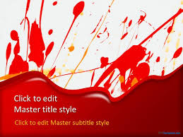Red Ppt Free Red Paint Splash Ppt Template