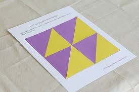 Geometry for Kids: Quilt Activity Using Triangles (Free Printable ... & Geometry Activity for Kids: Design a four-square quilt pattern using  triangles (Free Adamdwight.com