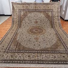 yilong 9 x12 250line handmade silk on silk oriental persian carpet traditional area rugs