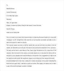Formal Business Invitation Wording Invitation Letter Template