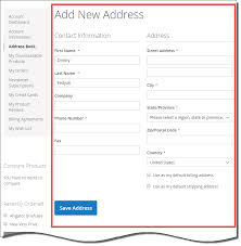 New Customer Account Form How Is The Add New Address Form Implemented In A Customers