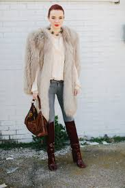 long fur coat black long fur coat in burdy boots