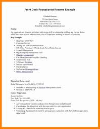 7 Front Desk Receptionist Resume Doctors Signature