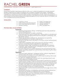 Templates Electrical Maintenance Manager Sample Job Description