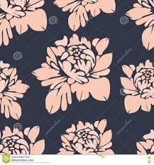 Bloemen Naadloos Patroon Uitstekende Bloemenachtergrond Beige