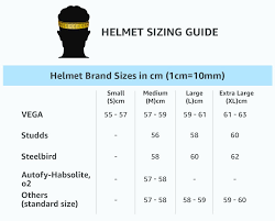 Motorcycle Helmet Measurement Chart Amazon In Helmets Size Chart Car Motorbike