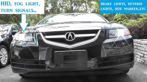 How To Replace Side Marker Light On Acura Tl How To Replace All Exterior Lights And Bulbs Acura Tl