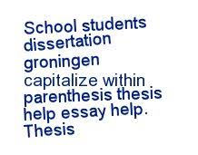 Help writing thesis statement research