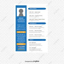Blue Business Resume Vector Png Resume Template Business Resume