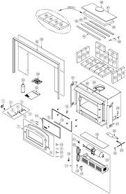 exploded view drawing and parts list escape 1400 i wood insert