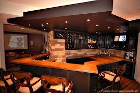cool man cave design with large bar basement sports bar ideas