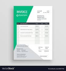 Design An Invoice Creative Green Invoice Template Design