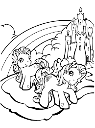 My Little Pony Party Coloring Page