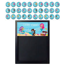 Magnetic Chalkboard Chore Chart Magnetic Chore Chart Kids Job Chart Magnetic Chalkboard Chore Magnets Mermaid Decor Family Chores Organization