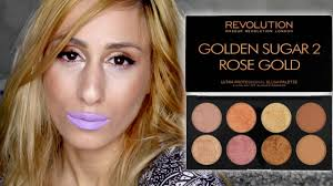 6 makeup revolution golden sugar 2 rose gold review demo swatches you