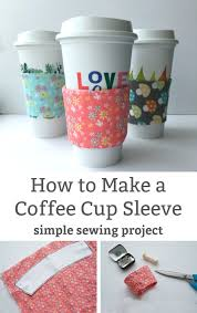 how to make a coffee cup sleeve simple diy