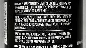 monster energy drinks nutrition facts