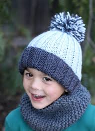 Easy Knit Hat Pattern Free Beauteous Beginner Easy Ribbed Pom Hat AllFreeKnitting