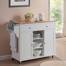 Modern portable kitchen island Chrome Kitchen Image Unavailable Image Not Available For Color Havenside Home Nixonton White Modern Kitchen Island Cart Amazoncom Amazoncom Havenside Home Nixonton White Modern Kitchen Island