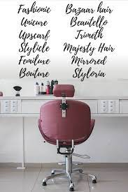 77 unique cly hair salon names for