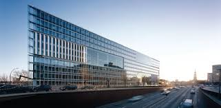 office building facades. The Deichtor Office Building, Hamburg, Germany. Building Facades