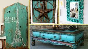 distressed turquoise furniture. DIY Shabby Chic Distressed Turquoise Old Furniture Decor Ideas Home Flamingo Mango Inside YouTube