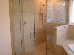 graceful bathroom shower ideas with beige tile also stainless steel with bathroom shower glass door ideas