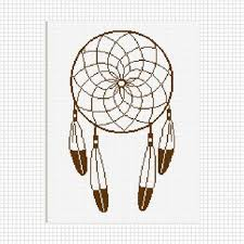 Dream Catcher Patterns Step By Step DREAMCATCHER DREAM CATCHER FEATHERS CROCHET PATTERN GRAPH AFGHAN 50