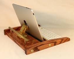 ipad workstation keyboard tablet dock steampunk v1 oak ipad iphone