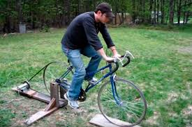 homemade electric generator. DIY Bicycle Generator Electricity 1 Homemade Electric