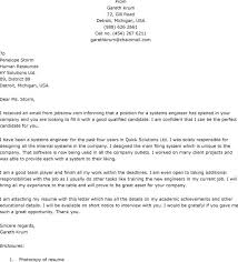 Engineering Job Cover Letter Experience Resumes
