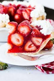 strawberry pie slice. Exellent Pie A White Plate With A Big Slice Of Fresh Strawberry Pie Made Jello And With Strawberry Pie Slice H