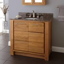 teak bathroom vanities. Offering Ample Storage For Bath Towels And Other Essentials, This Two-door Vanity Is Customizable With A Stone Top Sink.923235Signature Hardware Teak Bathroom Vanities Signature