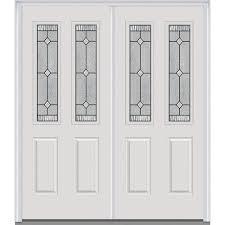 white double front door. Solid Double Exterior Doors White Door Front The Home Depot