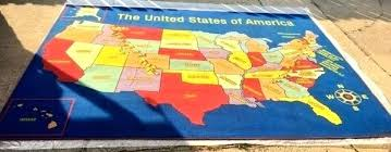 usa map rug area rug carpet classroom daycare map ultimate educational usa map area rug