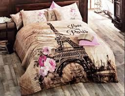 paris eiffel tower theme bedding set luxury