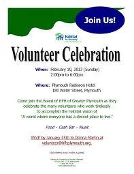 Best Photos Of Volunteer Recognition Invitation Sample Volunteer