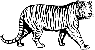 running tiger clipart black and white. To Running Tiger Clipart Black And White