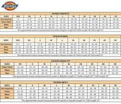 Dickies Juniors Size Chart Maries Medical