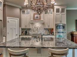 Kitchen Cabinets Crown Molding Traditional Kitchen With L Shaped Flat Panel Cabinets In Edmond