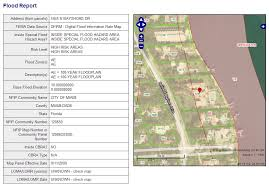 flood zone report with map